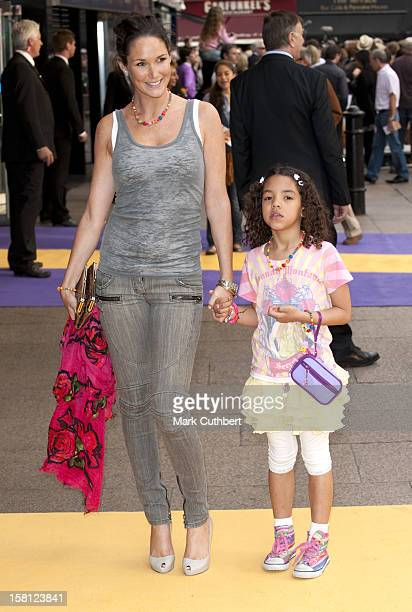 Claire Merry And Her Daughter Tea Arriving At The Uk Film Premiere Of 'Hannah Montana' At The Odeon Leicester Square London