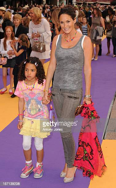 Claire Merry Arriving At The Uk Film Premiere Of 'Hannah Montana' At The Odeon West End London