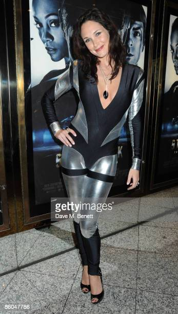 Claire Merry attends the UK film premiere of 'Star Trek' at the Empire Leicester Square on April 20 2009 in London England