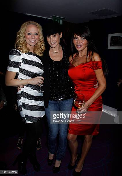 Claire Merry Lizzie Cundy at a showing of Mark Heyes new book at the Sanctum Hotel on March 30 2010 London England