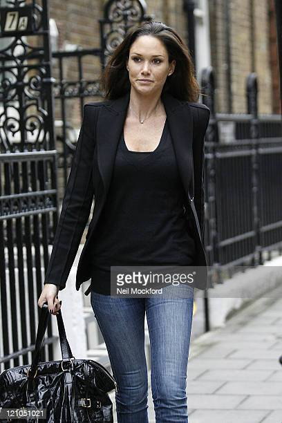 Claire Merry sighted leaving Matt Lucas's Home on October 7 2009 in London England