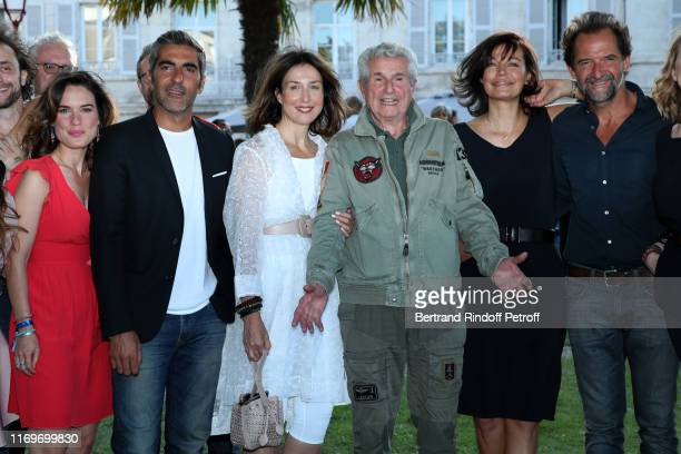 Claire Morin Ary Abittan Elsa Zylbertstein Director Claude Lelouch Marianne Denicourt and Stephane de Groodt attend the Photocall of the movie La...