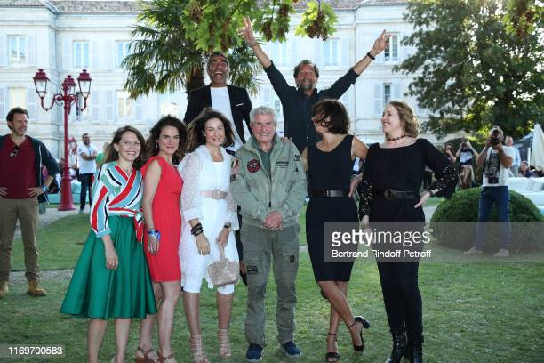 Claire Morin Elsa Zylbertstein Ary Abittan Director Claude Lelouch Stephane de Groodt Marianne Denicourt and Agnes Soral attend the Photocall of the...