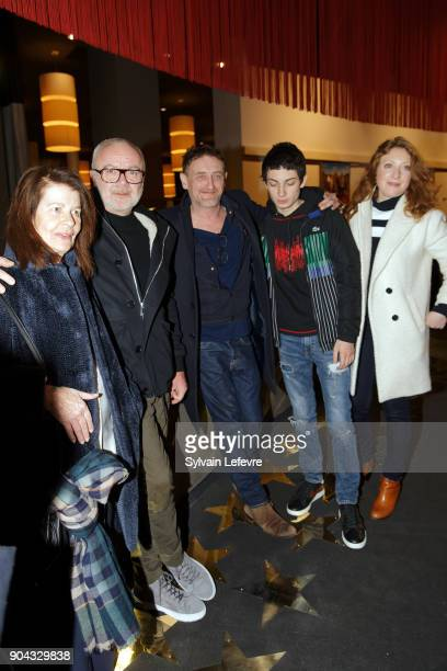 Claire Nadeau Olivier Baroux JeanPaul Rouve Theo Fernandez and Sarah Stern attend 'Tuche 3' premiere at Lomme Kinepolis on January 12 2018 in Lille...