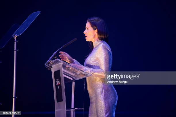 Claire Nasir presents and award at the Audio and Radio Industry Awards at First Direct Arena Leeds on October 18 2018 in Leeds England