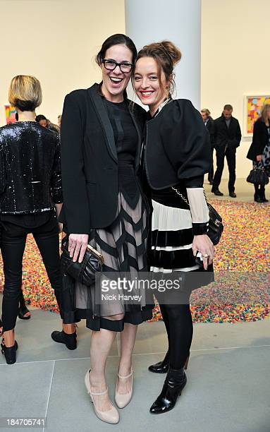 Claire Neate James and Alice Temperley attend the private view for Damien Hirst and Feliz GonzalezTorres' 'Candy' at Blain Southern on October 15...