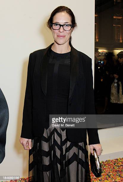 Claire Neate James attends a private view of Damien Hirst And Felix GonzalezTorres's exhibition Candy at Blain Southern on October 15 2013 in London...