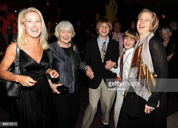 Claire Newman Joanne Woodward and her grandchildren attend the after party for the celebration of Paul Newman's Hole in the Wall camps at Alice Tully...
