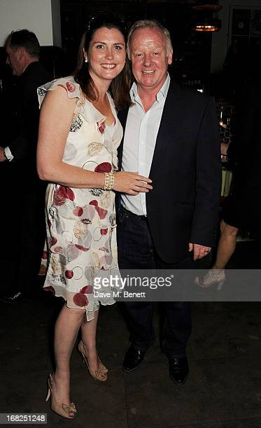 Claire Nicholson and Les Dennis attend an after party following the press night performance of 'Passion Play' at The National Gallery on May 7 2013...