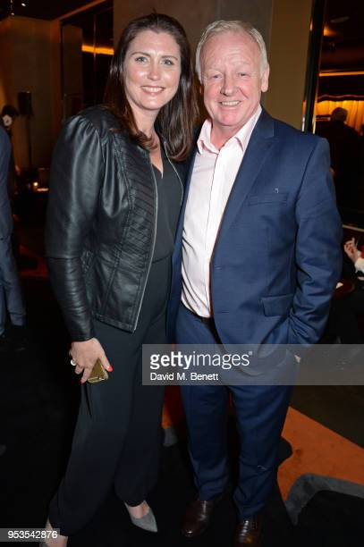 Claire Nicholson and Les Dennis attend the press night after party for Chess at St Martins Lane on May 1 2018 in London England