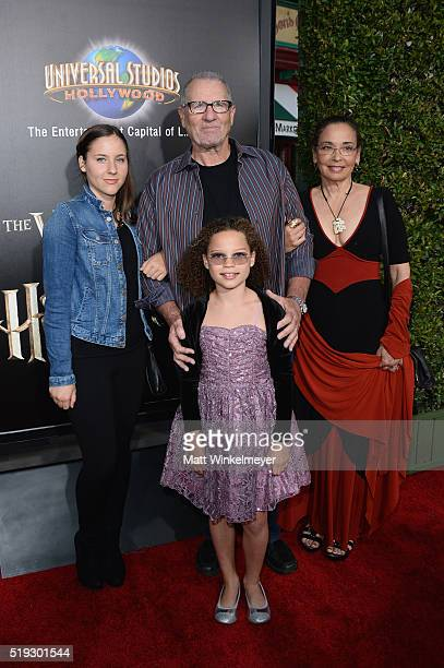 Claire O'Neill actor Ed O'Neill Sophia O'Neill and actress Catherine Rusoff attend Universal Studios' Wizarding World of Harry Potter Opening at...