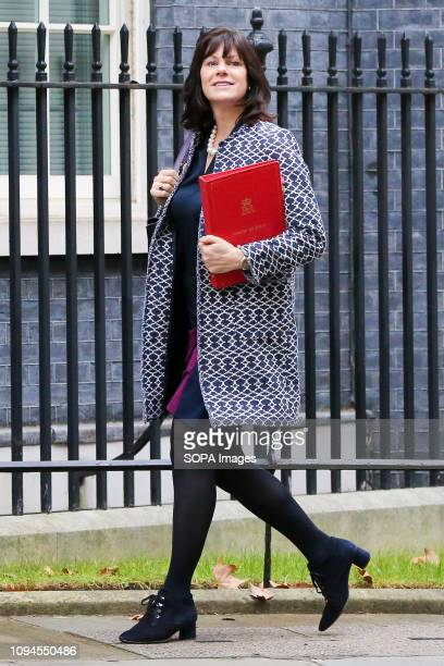 Claire Perry Minister of State at Department for Business Energy and Industrial Strategy seen arriving at the Downing Street to attend the weekly...