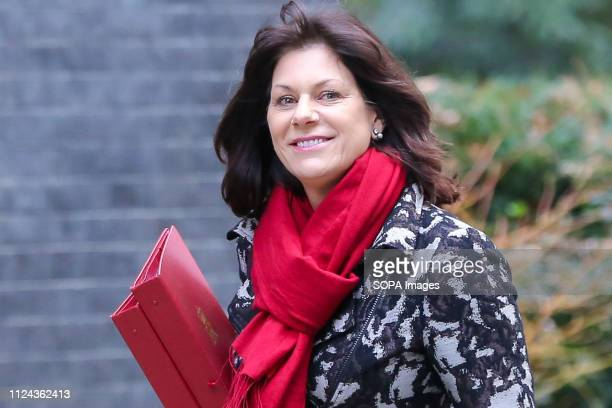 Claire Perry Minister of State at Department for Business Energy and Industrial Strategy is seen upon her arrival at the Downing Street to attend the...
