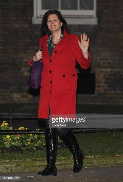 Claire Perry MP arrives at 10 Downing Street as Prime Minister Theresa May reshuffles her cabinet on January 8 2018 in London England Today's Cabinet...