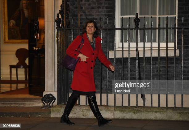 Claire Perry MP leaves 10 Downing Street after being appointed as Minister of State at the Department for Business Energy and Industrial Strategy as...