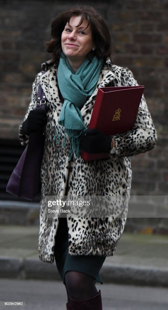 Claire Perry the Minister of State at the Department for Business, Energy and Industrial Strategy leaves Number 10 after government ministers attended the first Cabinet meeting of the year at 10 Downing Street on January 9, 2018 in London, England.
