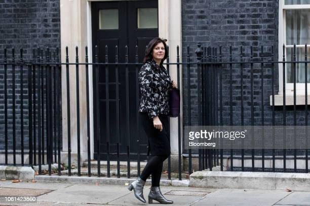Claire Perry UK business minister arrives for a special session of Cabinet to discuss the Brexit deal at number 10 Downing Street in London UK on...