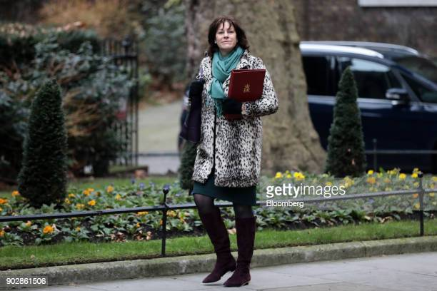 Claire Perry UK energy minister arrives for a weekly meeting of cabinet ministers at number 10 Downing Street in London UK on Tuesday Jan 9 2018 UK...