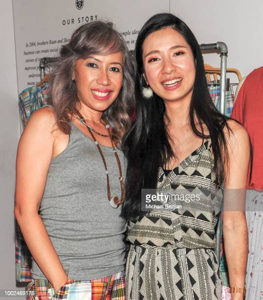 Claire Powers and Crystal Hsu attend Kindom Summer Soiree at Alchemy Works on July 19 2018 in Los Angeles California
