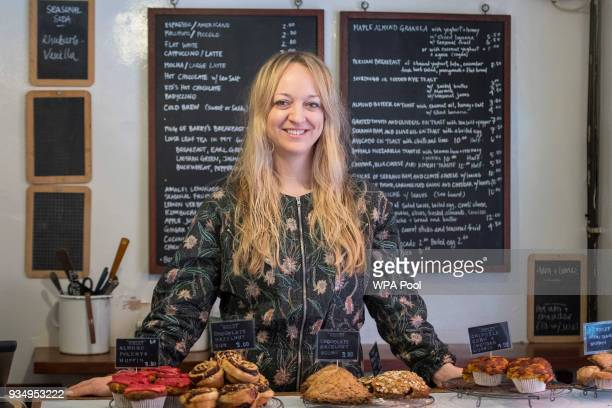 Claire Ptak owner of Violet Bakery in Hackney east London poses on March 20 2018 in London England Claire Ptak has been chosen to make the cake for...