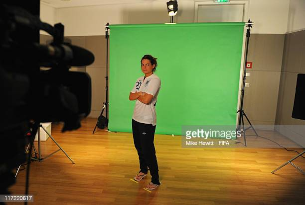 Claire Rafferty of England during the FIFA portrait session on June 24 2011 in Wolfsburg Germany