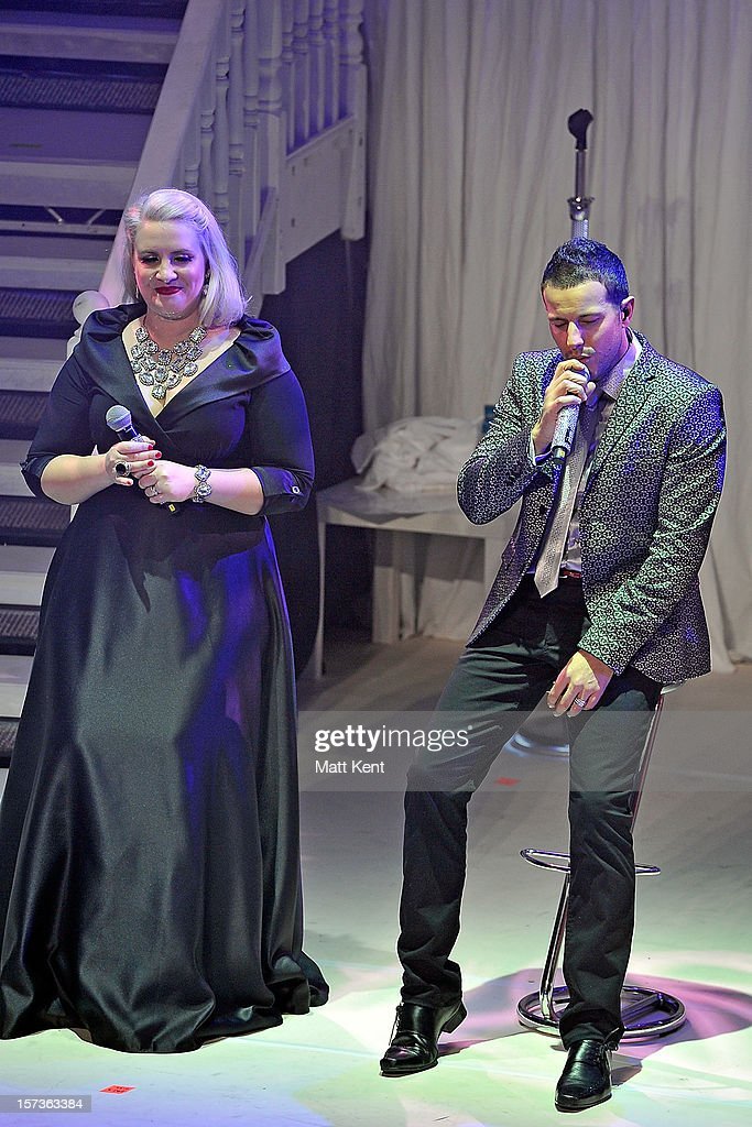 Claire Richards(L) and Lee Latchford-Evans of Steps performs at London Palladium on December 2, 2012 in London, England.