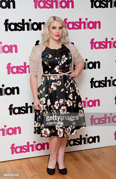 Claire Richards attends a photocall to launch her collaboration with Fashion World on January 29 2013 in London England