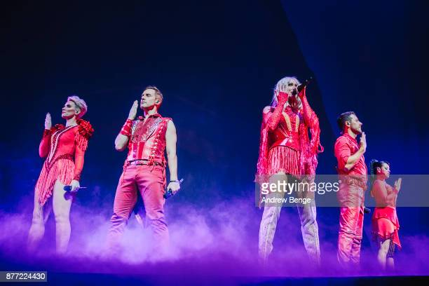 ONLY Claire Richards Ian 'H' Watkins Faye Tozer Lee Lachford and Lisa Scott Lee of Steps perform at First Direct Arena Leeds on November 21 2017 in...