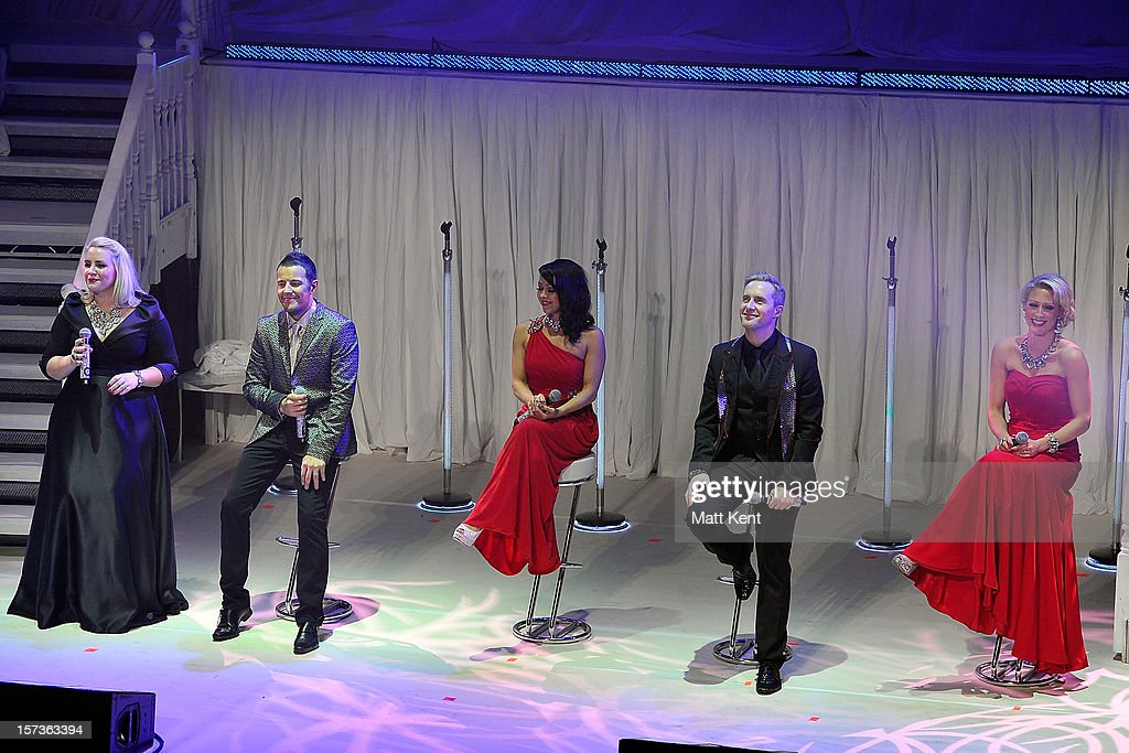 Claire Richards, Lee Latchford-Evans, Lisa Cott-Lee, Ian 'H' Watkins and Faye Tozer of Steps perform at London Palladium on December 2, 2012 in London, England.
