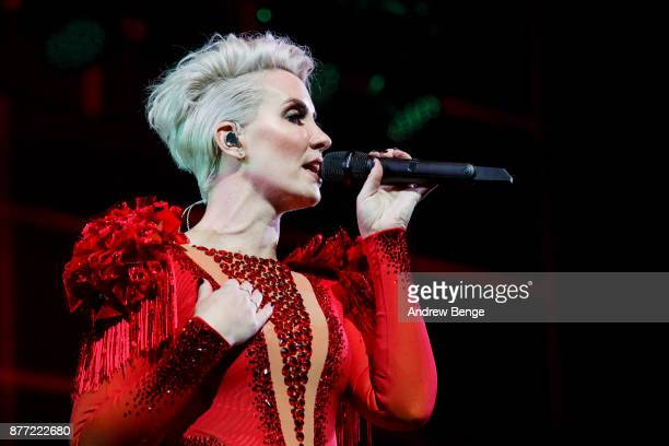 ONLY Claire Richards of Steps performs at First Direct Arena Leeds on November 21 2017 in Leeds England