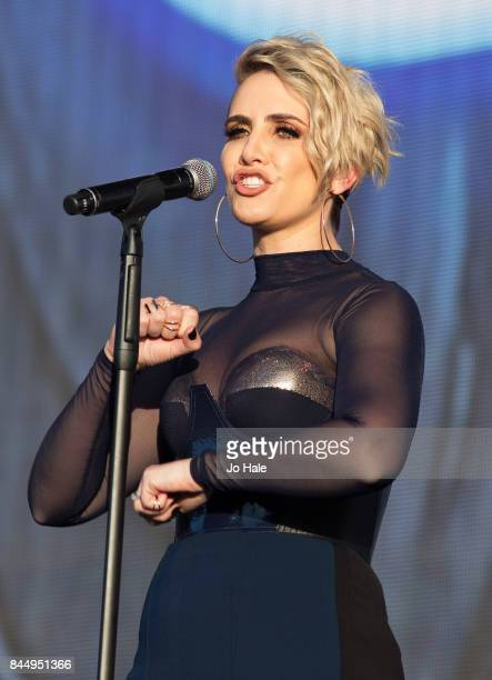 Claire Richards of Steps performs on stage at The Last Night of the Proms at Royal Albert Hall on September 9 2017 in London England
