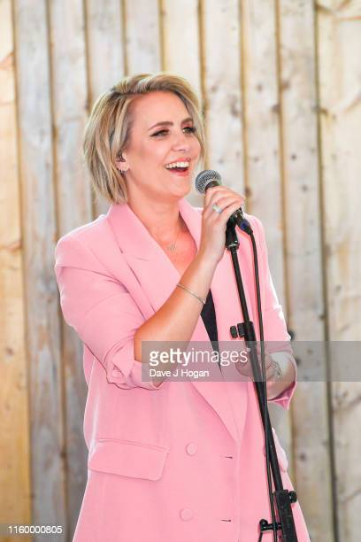 Claire Richards performs during the Barclaycard Presents British Summer Time Hyde Park Media Day at Hyde Park on July 04 2019 in London England