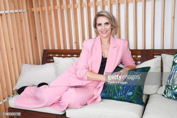 Claire Richards poses backstage during the Barclaycard Presents British Summer Time Hyde Park Media Day at Hyde Park on July 04 2019 in London England
