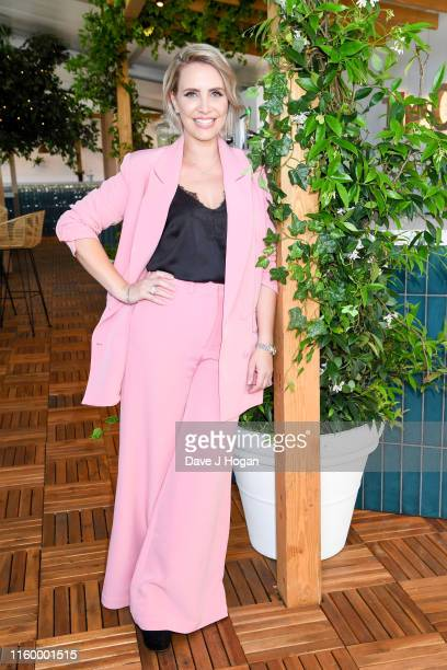 Claire Richards poses backstage during the Barclaycard Presents British Summer Time Hyde Park Media Day at Hyde Park on July 04, 2019 in London,...