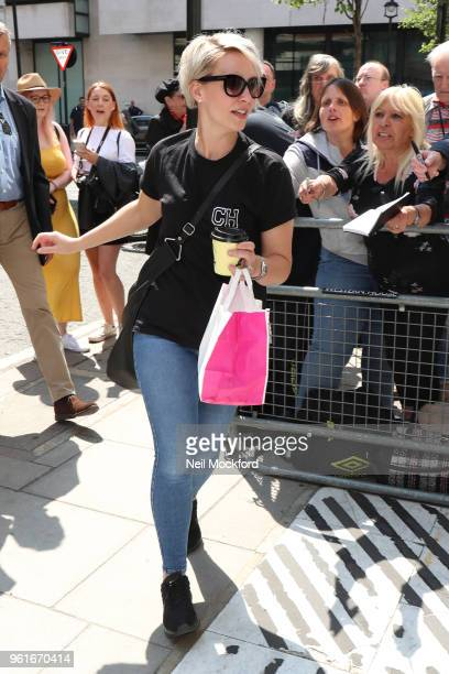 Claire Richards seen arriving at BBC Radio 2 on May 23 2018 in London England