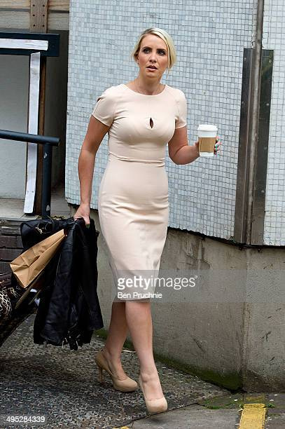 Claire Richards sighted at ITV Studios on June 2 2014 in London England