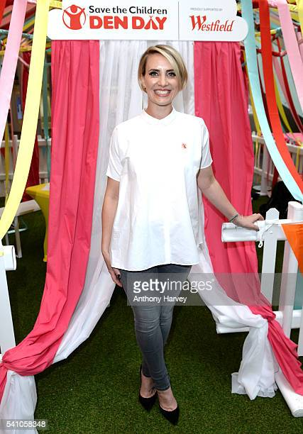 Claire Richards supports Save the Children's Den Day at Westfield London on June 18 2016 in London England