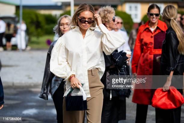 Claire Rose Cliteur is seen outside Stine Goya during Copenhagen Fashion Week Spring/Summer 2020 on August 08 2019 in Copenhagen Denmark