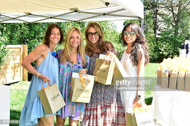 Claire Rost Cindy Leibovitch Linda MaTrouong and Ginger Harris attend the Hamptons Magazine London Jewelers Host a Luxury Shopping Afternoon on July...