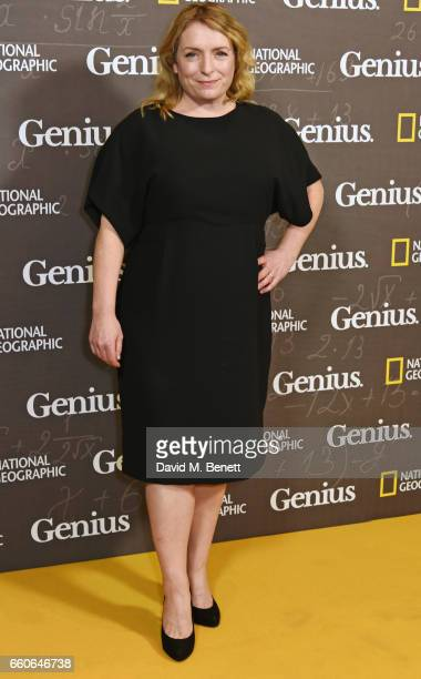 Claire Rushbrook attends the London Premiere of the National Geographic Channel's 'Genius' at the Cineworld Haymarket on March 30 2017 in London...