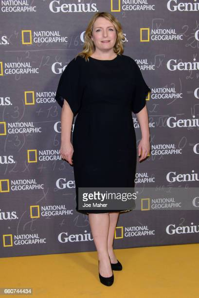 Claire Rushbrook attends the National Geographic Channel's 'Genius' London Premiere the on March 30 2017 in London United Kingdom