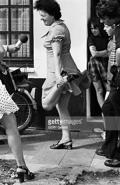 Claire Ryckelynck Lourdes' Miraculously Cured Person Lederzeele 18 août 1975 Claire RYCKELYNCK handicapée à la suite d'un accident retrouve l'usage...