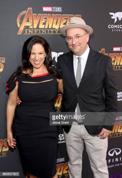 Claire Saunders and screenwriter Christopher Markus attend the Los Angeles Global Premiere for Marvel Studios' Avengers Infinity War on April 23 2018...