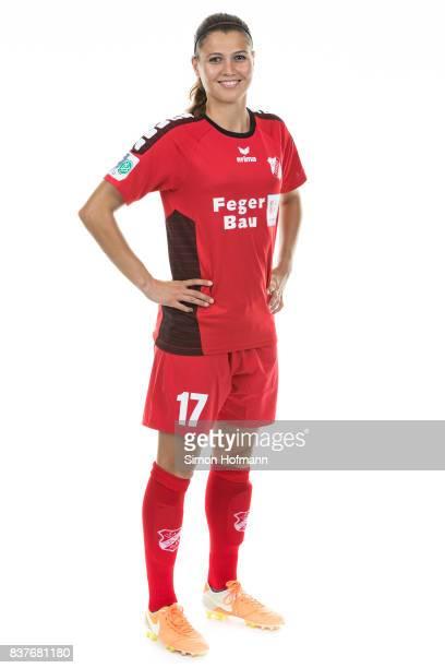 Claire Savin of SC Sand poses during the Allianz Frauen Bundesliga Club Tour on August 22 2017 in Willstatt Germany