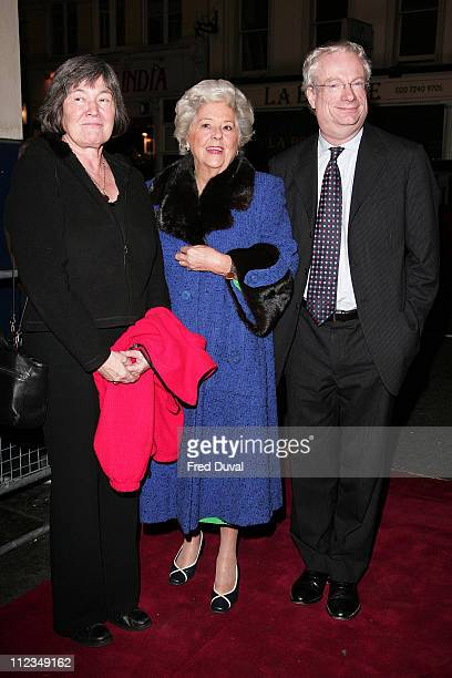 Claire Short Betty Boothroyd and Chris Smith during An Evening for Mo and Friends to Remember Mo Mowlam November 20 2005 at Theatre Royal Drury Lane...