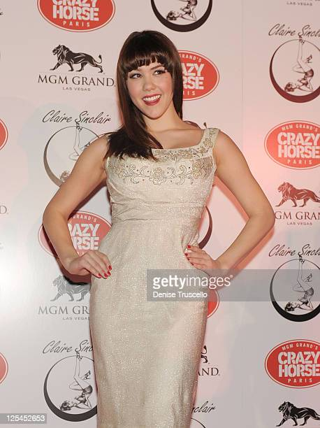 Claire Sinclair arrives at Crazy Horse Paris at the MGM Resort Casino on October 21 2010 in Las Vegas Nevada