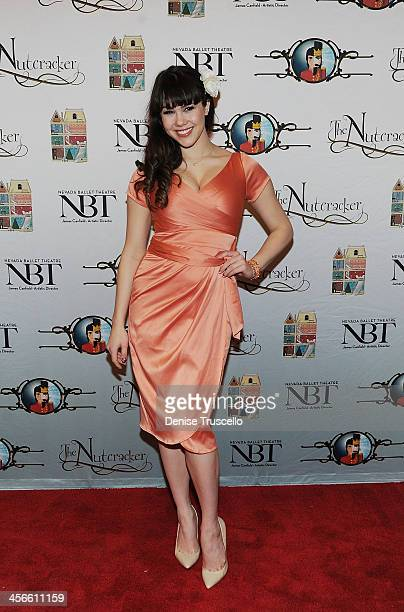 Claire Sinclair arrives at Nevada Ballet Theater's 'The Nutcracker' at The Smith Center For The Performing Arts 14 2013 in Las Vegas Nevada