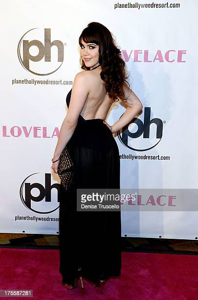 Claire Sinclair arrives at the Lovelace premiere at Planet Hollywood Resort and Casino on August 4 2013 in Las Vegas Nevada
