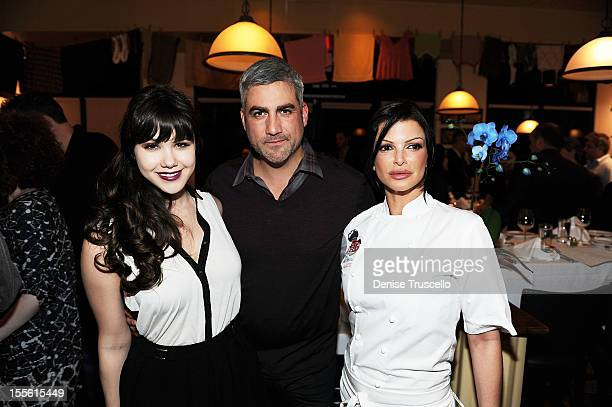 Claire Sinclair Taylor Hicks and Carla Pellegrino attend a wine pairing dinner benefiting Henderson Boys and Girls Club at Bratalian Restaurant on...