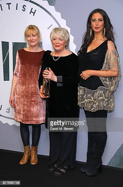 Claire Skinner Alison Steadman and Ella Harris pose at The British Independent Film Awards Old Billingsgate Market on December 4 2016 in London...